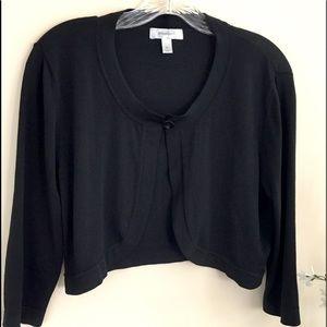 GUC Dress Barn Cardigan Shrug Black XL